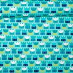 Tulpen-Love türkis/blau