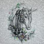 Sweat PANEL Flowers of Unicorn