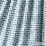 Jacquard Strick hearts blau