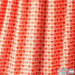 Jacquard Strick hearts orange