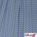 Jacquard Strick Wild Rose Kombi jeansblau