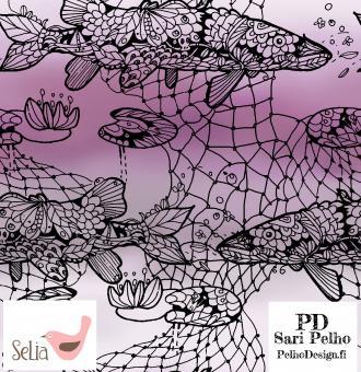Sweat Fishnet lila