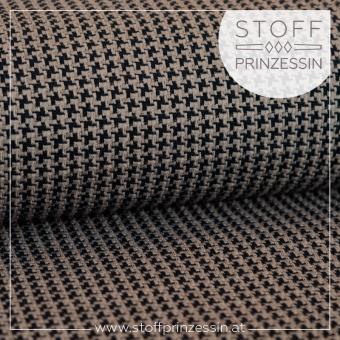 Tweed Knit graubraun/schwarz