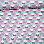 Tulpen-Love grau/rosa