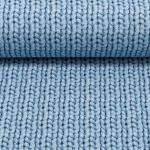 Sweat Cosy Knitting eisblau