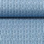 Sweat Cosy Knitting hellblau