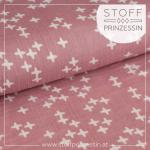 Double Gauze cross dusty pink