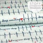 Keep Smiling EKG weiß