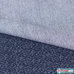 Jacquard Strick Dotties dunkelblau/weiß