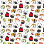 Webstoff Kawaii Sushi