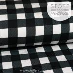 Kuschelsweat Karo schwarz/weiß