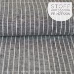 Linen blend stripes grey