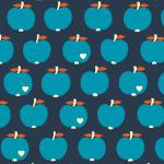 `One apple a day´ blau