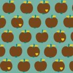 `One apple a day´ mint-braun