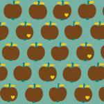 `One apple a day´ mint-braun
