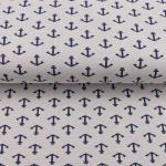 Jacquard anchor white