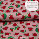Webstoff Wassermelone rosa