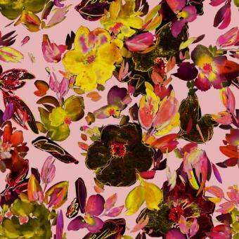 Webstoff Digital Brightness rosa