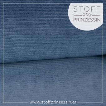 Cordjersey breit jeansblau