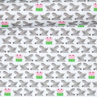 Bunny-Liebe weiss/grau