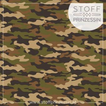 Webstoff Popeline Camouflage