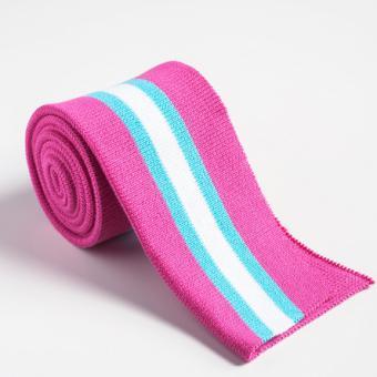 Folded ribbing pink sport