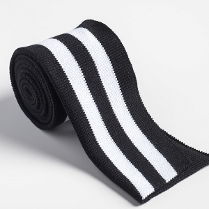 Folded ribbing black/white