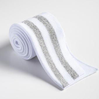 Folded ribbing white/silver