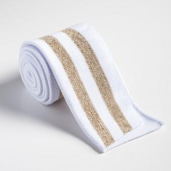 Folded ribbing white/gold