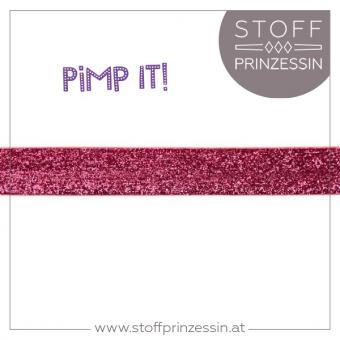 Glitzerband pink