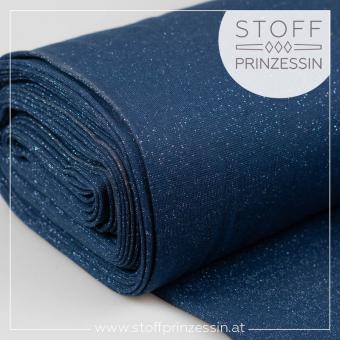 Glitzerbündchen dark blue