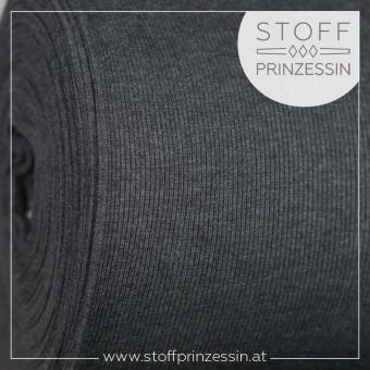 2x2 Rib knit dark grey melange