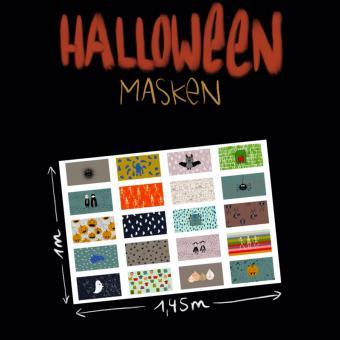 Webstoff RAPPORT Halloweenmasken
