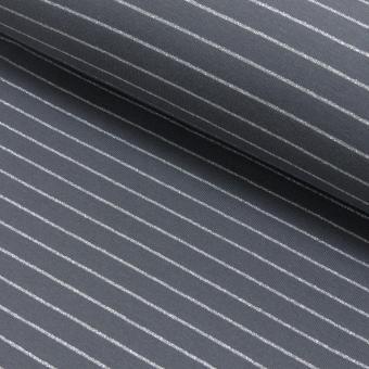 Lurexstreifen grau/silber