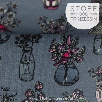 Sweat 'All my Flowers' rauchblau by Lila-Lotta
