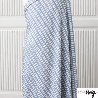 Modalsweat Stripe/Stripe graublau/weiß