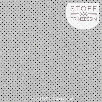Webstoff Kleine Punkte weiß/schwarz