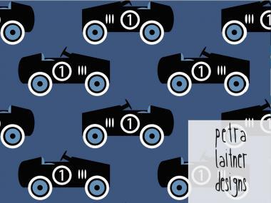 Retro cars blau