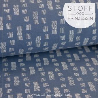 Kuschelsweat Funky Stripes blau
