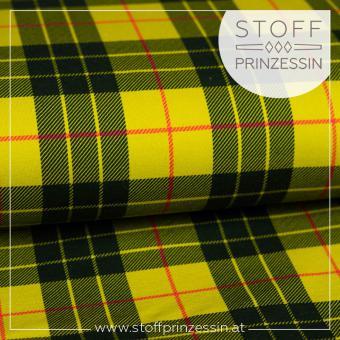 Kuschelsweat Schottenkaro gelb