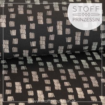 Kuschelsweat Funky Stripes schwarz
