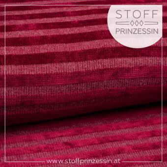 Knit Stripes berry