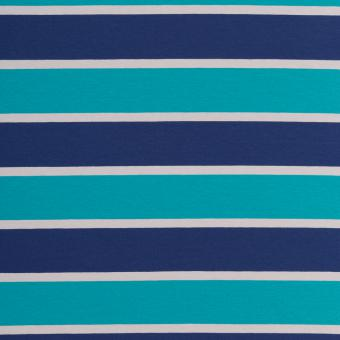 Streifenjersey Lilly blau/türkis