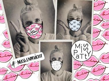 Webstoff RAPPORT Miss Patty Masken