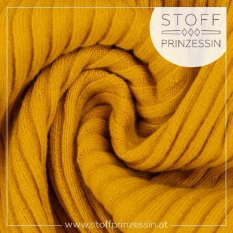 Rippstrick Bündchen Heiko yellow