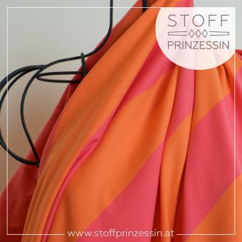 XL Stripes hibiscus/mandarin 8cm
