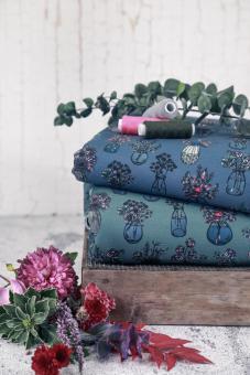 Sweat 'All my Flowers' smaragd by Lila-Lotta