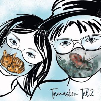 Webstoff RAPPORT Tiermasken Kinder Teil 2